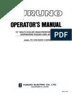 Furuno Marine Radar FR1500MK2 Operator's Manual