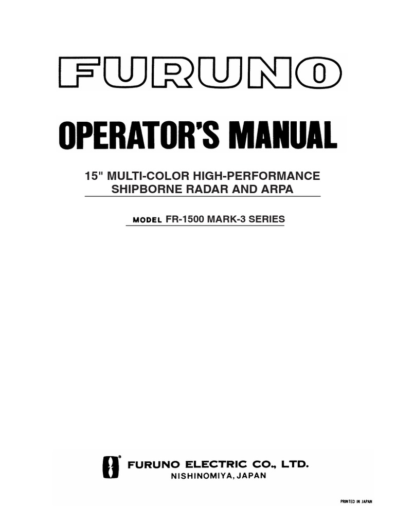 furuno marine radar fr1500mk2 operator s manual radar electric shock rh scribd com Marine Radar Displays furuno 1720 radar wiring diagram