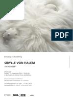 Einladung Ausstellungseröffnung Sibylle v. Halem in Spittal an der Drau