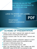 Presentation on Withholding Sales Tax With Reference to Textile by Ahmed Kamal