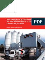 Specifications Beton Selon Normes-NBN en 206-1 NBN B15-001
