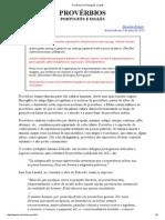 Provérbios Em Português e Inglês