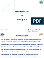 Analysts Report