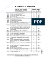 reports + ppt list