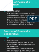 Sources of Funds of a Cooperative in the Philippines