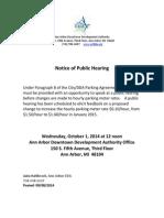 2014 DDA Parking Rate Hearing