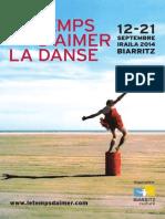 Programme Festival Temps Daimer La Danse 2014
