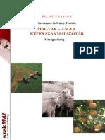 MAGYAR – ANGOL KÉPES SZAKMAI SZÓTÁR Mezőgazdaság