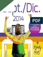 Programación de Actividades de la Concejalía de Igualdad Sep/Dic 2014