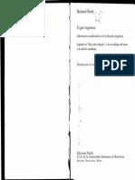 Rty, Richard (1998). El Giro Lingüístico Dificultades Metafilosóficas de La Filosofía Lingüística. Barcelona Paidós