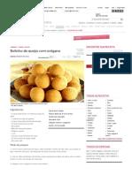 Receita de Bolinho de Queijo Com Orégano - Culinária - MdeMulher - Ed
