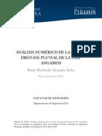 Análisis Numérico de La Red de Drenaje Pluvial de La Urb