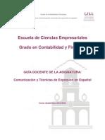 Comunicación y Técnicas de Expresión en Español