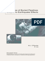 Response of Buried Pipelines Subject to Earthquake Effects