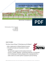 Combined Prospectus of Khyber Medical University Peshawar Pakistan