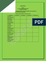 actividades de evaluaciones