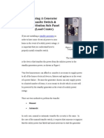 Wiring a Generator Transfer Switch