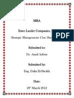 Estee Lauder Strategic Plan
