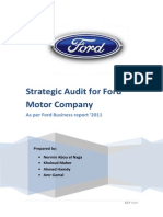 Strategic Audit for Ford Motor Company - V1.2