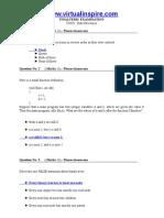 Cs 301 Final Term Solved Paper 1