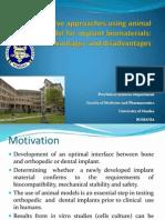Simona Cavalu_Animal Model for Implant Biomaterials