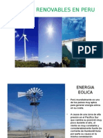 Energias Renovables en Peru