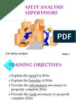 Job Safety Analysis for Supervisors