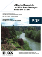 Concentrations of Dissolved Oxygen in the Lower Puyallup and White Revers, Washington