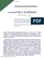 La Novela DEMONIOS de Dostoyevski