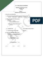 1st Internal Suggestion 5th Sem Java 2014