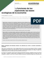 Articulo Ecosistemas y Economía