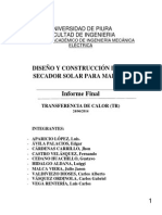 Diseño y Construcción de Un Secador Sola de Madera