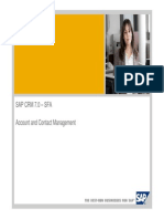 SAP CRM Account Management