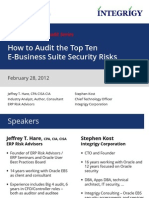 How to Audit the Top Ten E-Business Suite Security Risks
