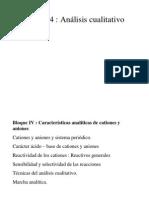 Tema 14.- ANALISIS CUALITATIVO. Identificacion de Especies Químicas