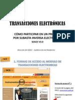 Transacciones Electronicas - Como Participar en Un Proceso Por Subasta Inversa Electronica - SEACE