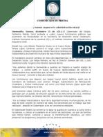 15-12-2011 Gobernador Guillermo Padrés, tomó protesta a 4 nuevos funcionarios públicos que asumieron las titularidades en SEDESSON, ISJE, ISIE. B121163