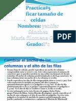 GUIA # 5 MODIFICAR TAMAÑO DE CELDAS YENIFER SANCHEZ MURILLO 8°C