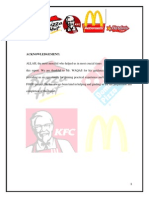 Report on fast food
