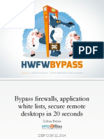 DEFCON 22 Zoltan Balazs Bypass Firewalls Application Whitelists in 20 Seconds UPDATED