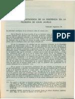 La Categoria Ontologica de La Exitencia en La Filosofia de Louis Lavelle