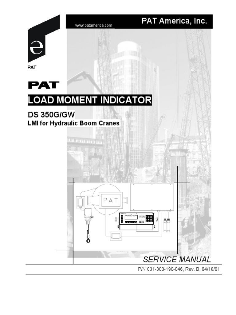 pat ds 350g gw service manual crane machine electrical connector rh scribd com