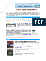 Boletín N°3, 15 de abril 2014