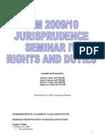 Seminar 4- Rights and Duties
