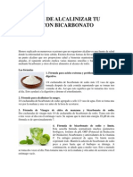 7 Formas de Alcalinizar Tu Cuerpo Con Bicarbonato