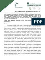 Geoquimica e Distribuicao Espacial de Metais Pesados Em Solos Do Cerrado Na Regiao de Unai, Paracatu e Vazante, MG