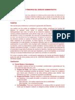 Fuentes y Principios Del Derecho Administrativo
