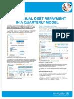Semi-Annual Debt in a Quarterly Model