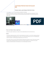 Lightning and Lightning Protection for Solar Electric Systems