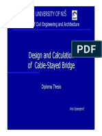 Design and Calculation of Cable Stayed Bridge